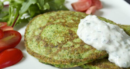 Savory pancakes made with three ingredients