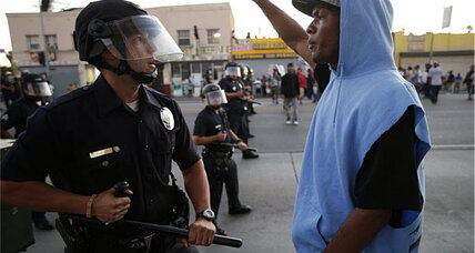 Zimmerman trial verdict: L.A. protesters struggle to stamp out violence (+video)