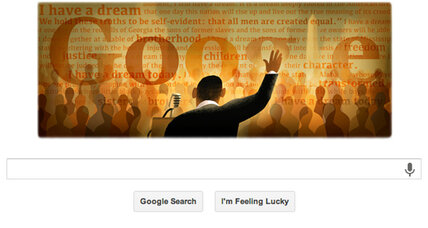 Google Doodle marks the anniversary of 'I Have a Dream' speech