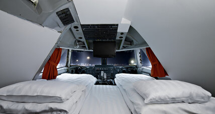 'Sleeping on the plane' takes on new meaning in Stockholm