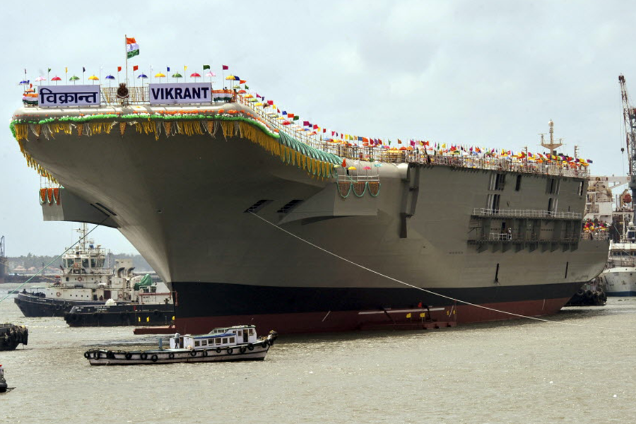 India aircraft carrier new delhi launches first home built india aircraft carrier new delhi launches first home built carrier csmonitor fandeluxe Choice Image