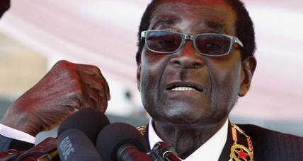 Zimbabwe's Mugabe says those doubting his election can 'go hang'