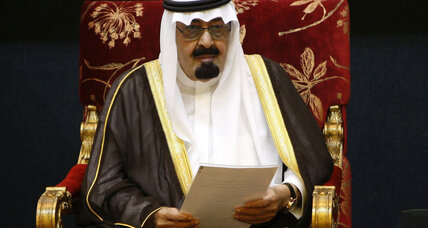 Saudi King Abdullah states support for Egypt's military