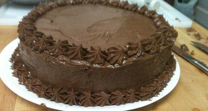The birthday cake search, and last year's espresso chiffon cake with fudge frosting