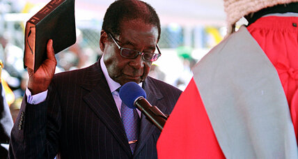Zimbabwe: Mugabe sworn in but South African President Zuma a no-show
