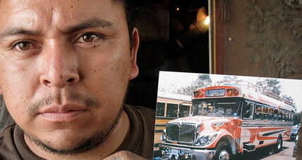 Once a US school bus, now a Central American taxi