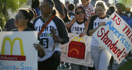 'Super-size' strike: Why fast-food workers walked out for higher wages