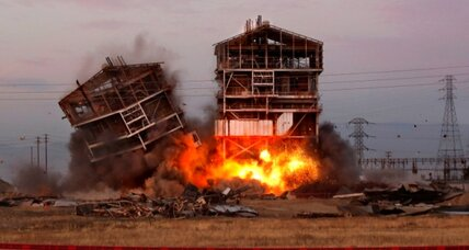 Power plant implosion: Demolition goes wrong