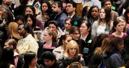 US creates 162,000 more jobs, but with fewer hours, less pay