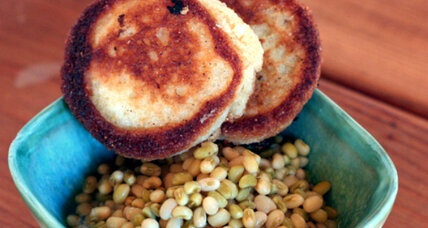 Butter braised lady peas and buttermilk hoe cakes