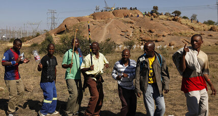 One year after South African police shot striking miners, no official explanation