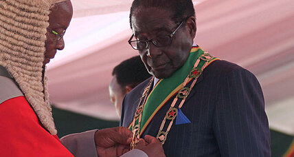 Robert Mugabe sworn in amid election fraud charges
