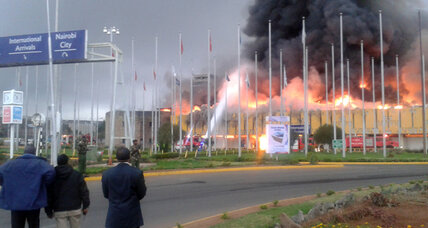 Fire wipes out Nairobi airport arrival hall on Al Qaeda attack anniversary (+video)