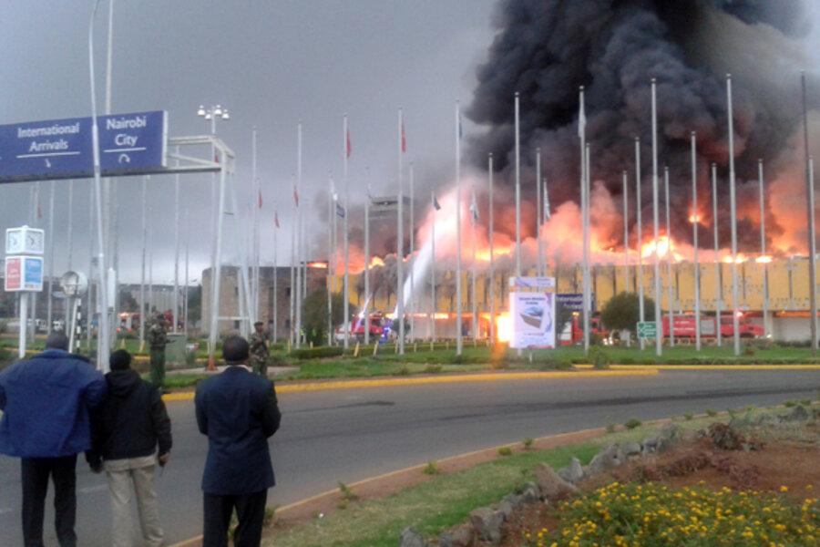 Aeroporto Nairobi : Fire wipes out nairobi airport arrival hall on al qaeda