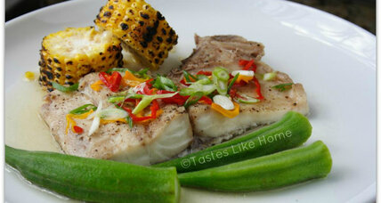 Simple, steamed fish