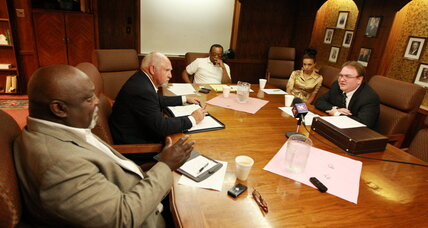 KKK and NAACP leaders meet face to face, an apparent first