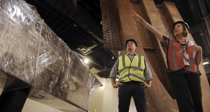 Steel relics in place as 9/11 museum nears completion