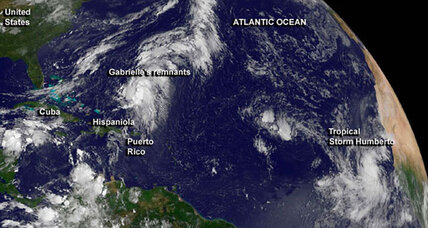 Tropical storm Humberto: Will it be the season's first hurricane? (+video)
