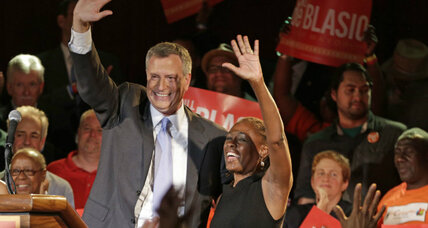 Bill de Blasio: big win, big target for GOP in N.Y. mayor race