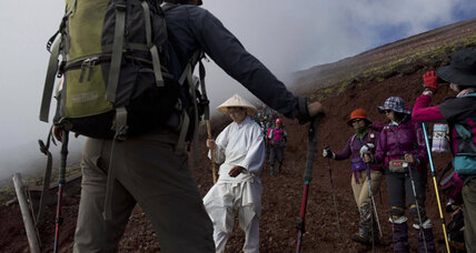 Can Mount Fuji survive tourists?