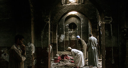 Across Egypt, piles of ash where church pews once stood (+video)