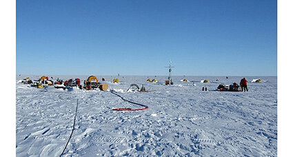 Antarctic ice sheet melting from below, scientists say