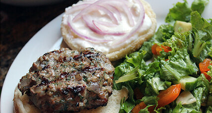 National Cheeseburger Day: Lamb burgers with feta spread