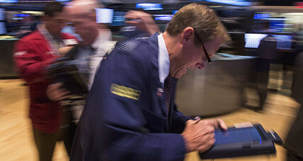 Stocks fall on budget fight, economic worries