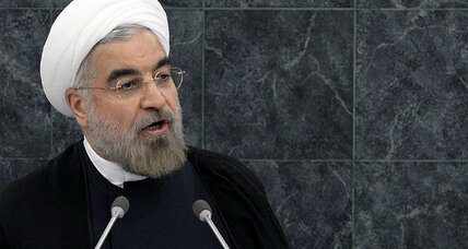 Iran's Rouhani lashes out at sanctions, hints at nuclear talks