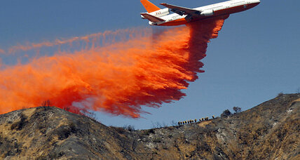 Azusa fire burns in Southern California mountains