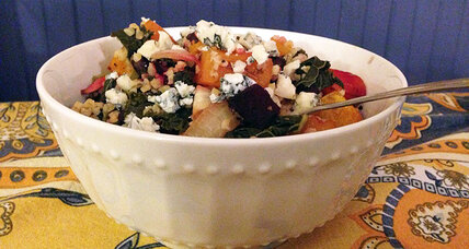 Gorgonzola butternut bulgar salad