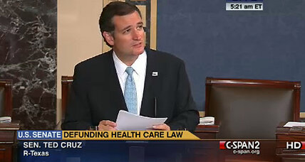 Ted Cruz filibuster: Is Cruz now 'president' of US conservatives? (+video)