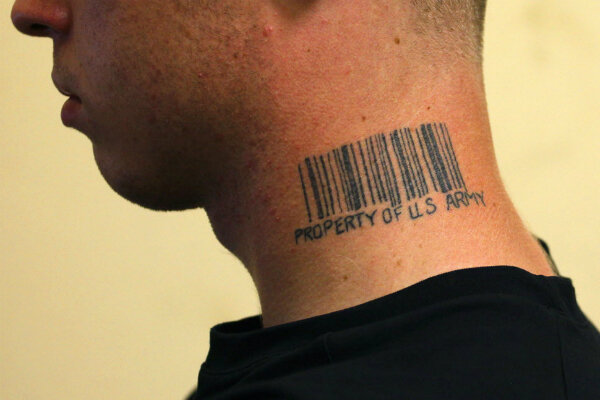 new pentagon rules ban tattoos on the neck and below elbows or knees. Black Bedroom Furniture Sets. Home Design Ideas