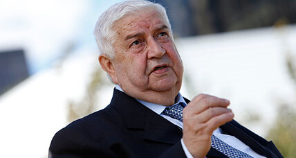 Syrian foreign minister: 'There is no civil war'
