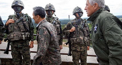 Hagel raises worries about North Korea's chemical weapons on DMZ trip