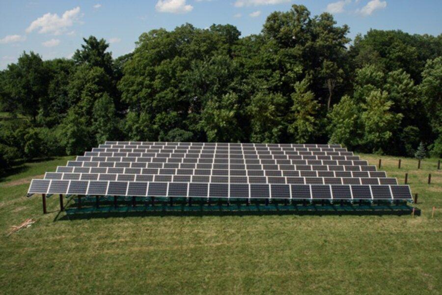 Solar Garden Model T Of Renewable Energy Csmonitor Com