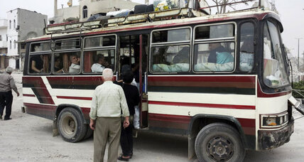 For Syrian bus drivers mayhem, danger, and making a living