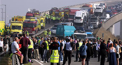 100-vehicle crash: Was fog to blame?