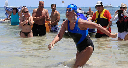 Victory! Diana Nyad completes record-breaking Cuba-to-Florida swim (+video)