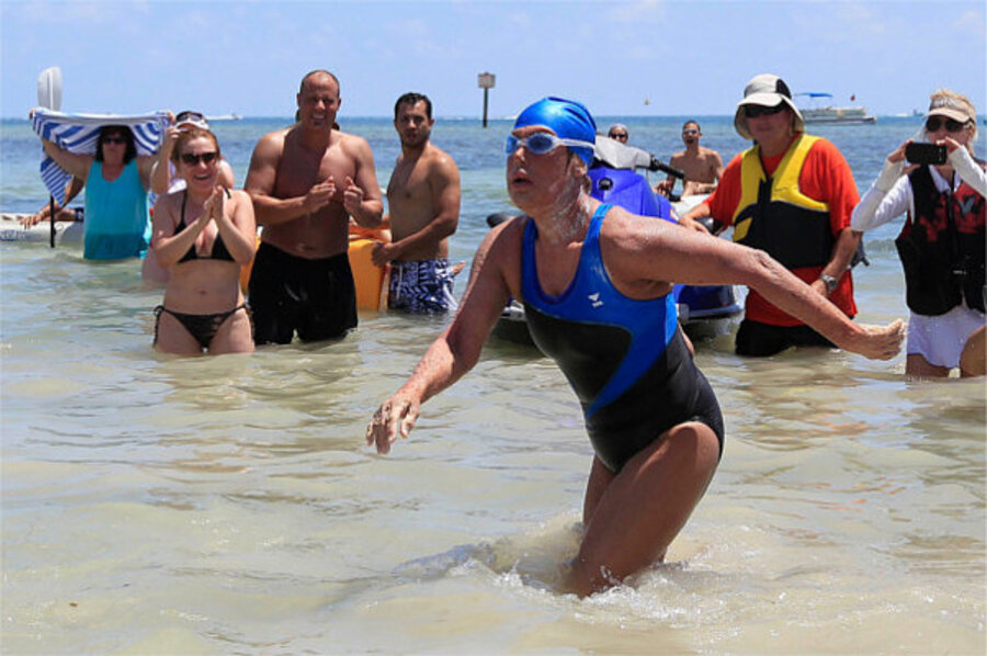 Diana Nyad Completes Record Breaking Cuba To Florida Swim