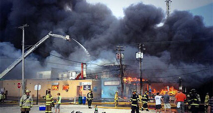 Seaside Heights fire: Raging fire strikes at the heart of Sandy-hit NJ town (+video)