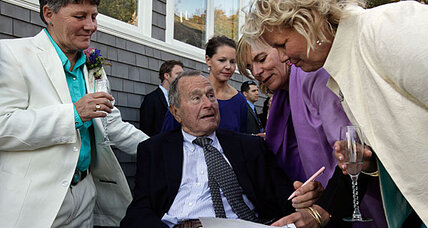 George H.W. Bush official witness at gay marriage in Maine