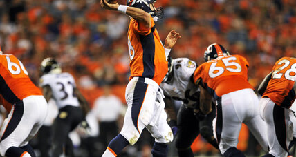 Peyton Manning ties NFL TD pass record in Broncos romp over Ravens