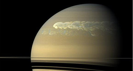 Monster storm reveals water on Saturn