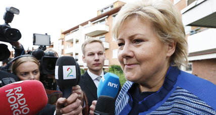 In Norway, center-left out, center-right in after election