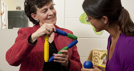 Building blocks: High-level learning comes with low-tech toys