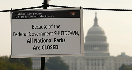 Government shutdown quiz
