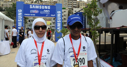 Syrians run for dignity in Amman marathon