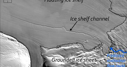 Humongous hidden passages discovered beneath Antarctic ice shelf