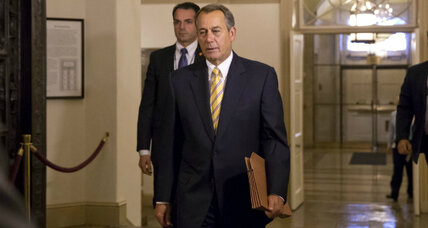 Is Speaker Boehner backing off Obamacare demands?